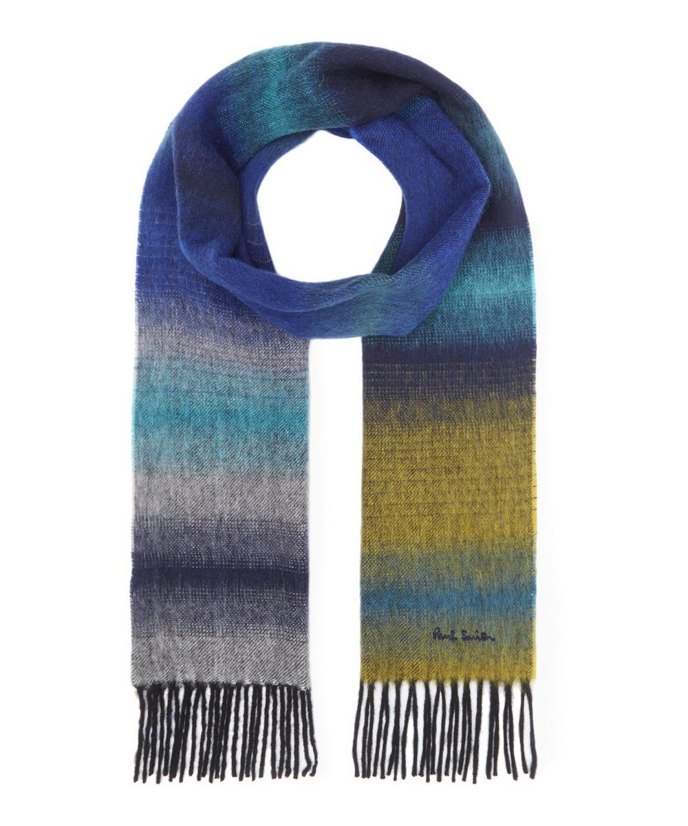 Faded Stripe Cashmere Blend Scarf