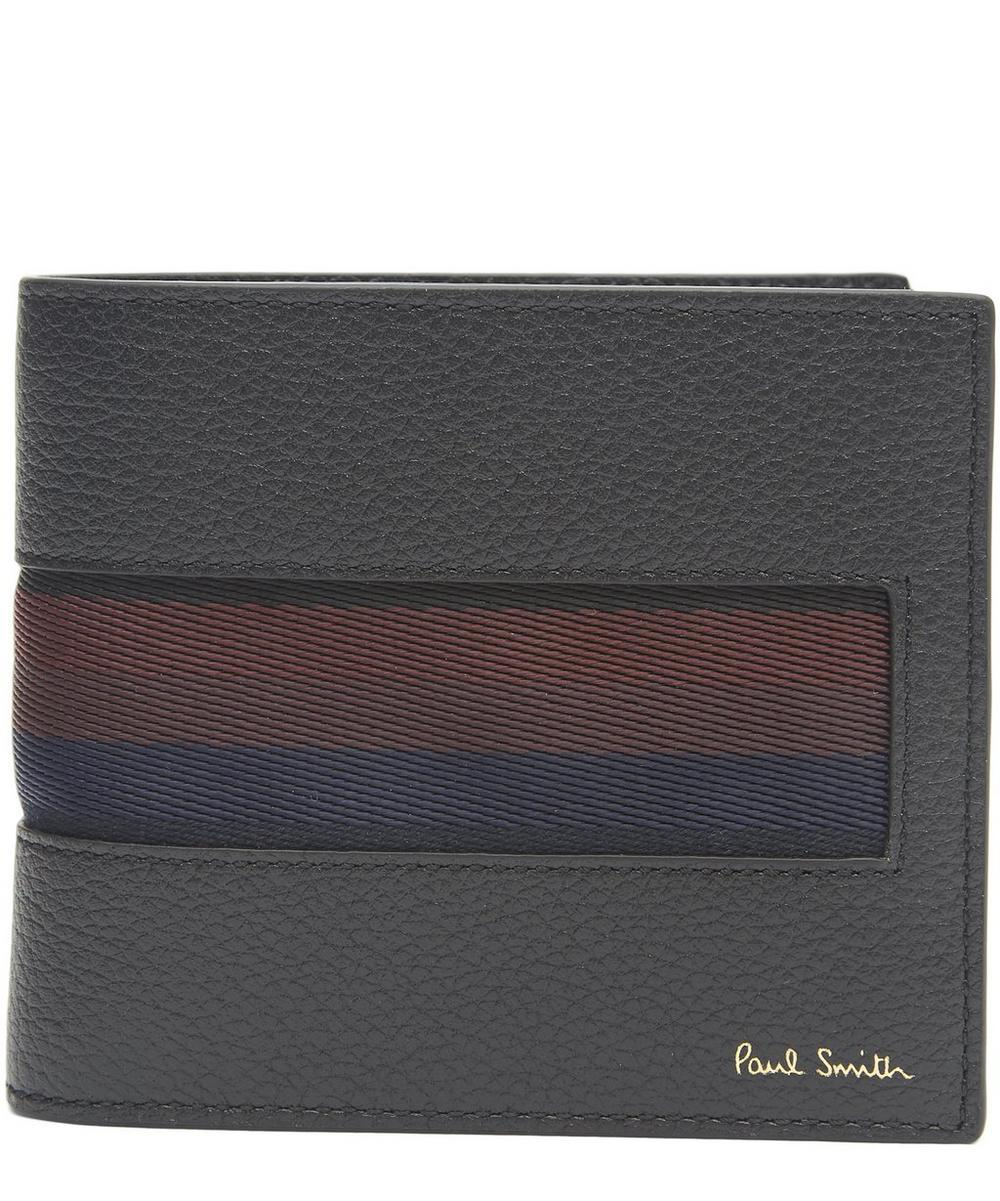 City Webbing Leather Bifold Wallet