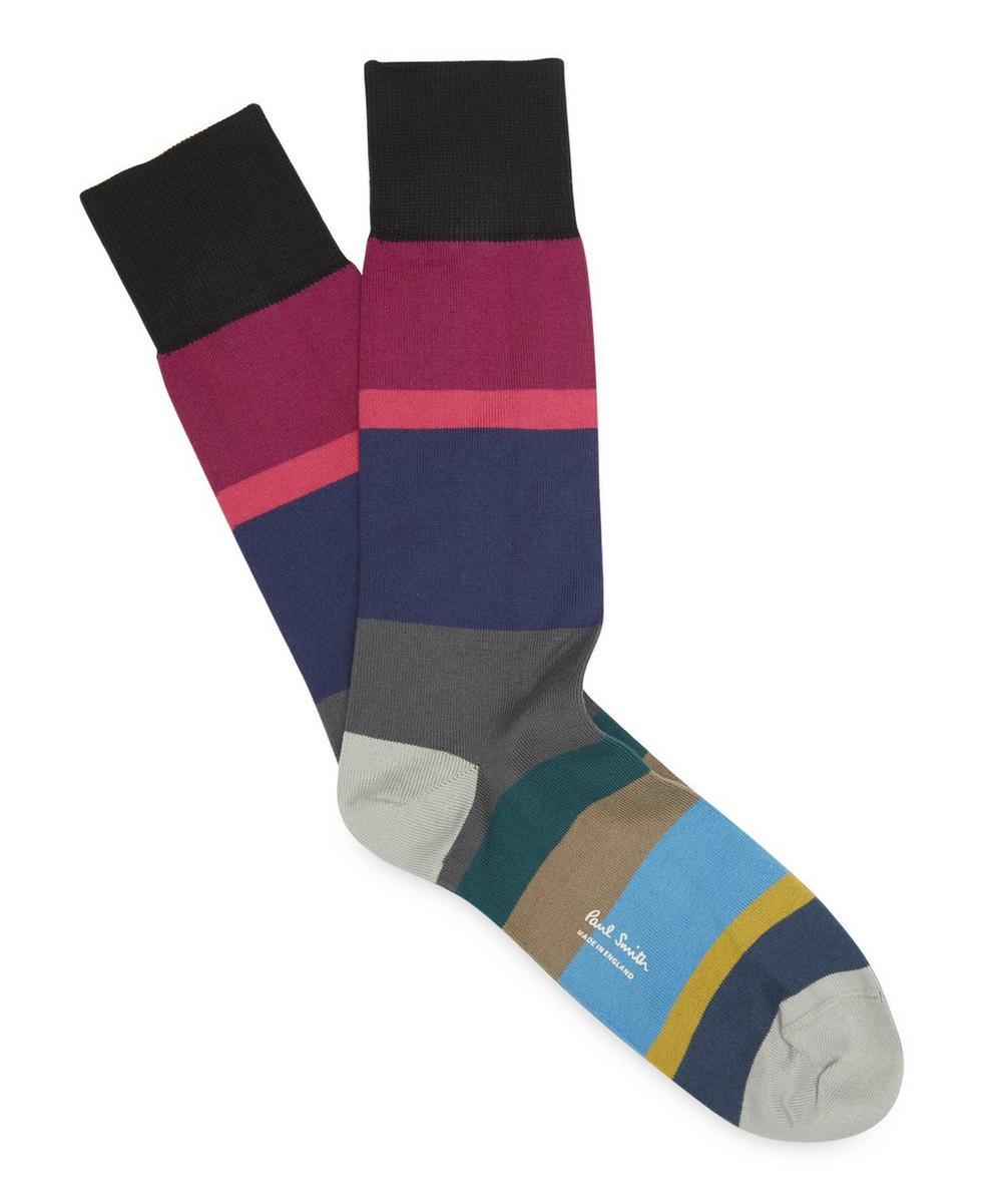 Block Stripe Sock