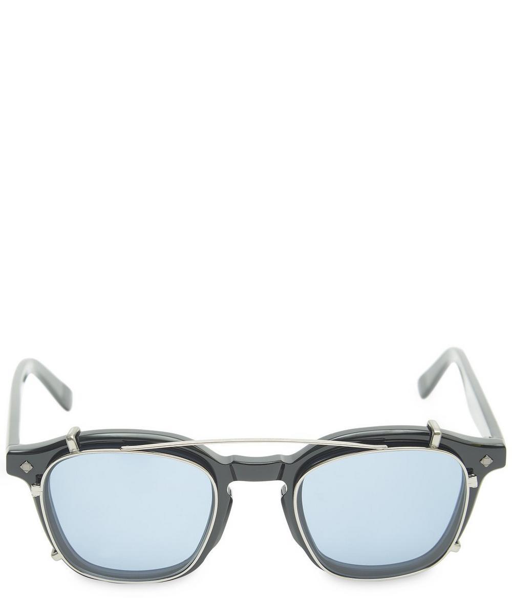 Cognac Clip-On Sunglasses
