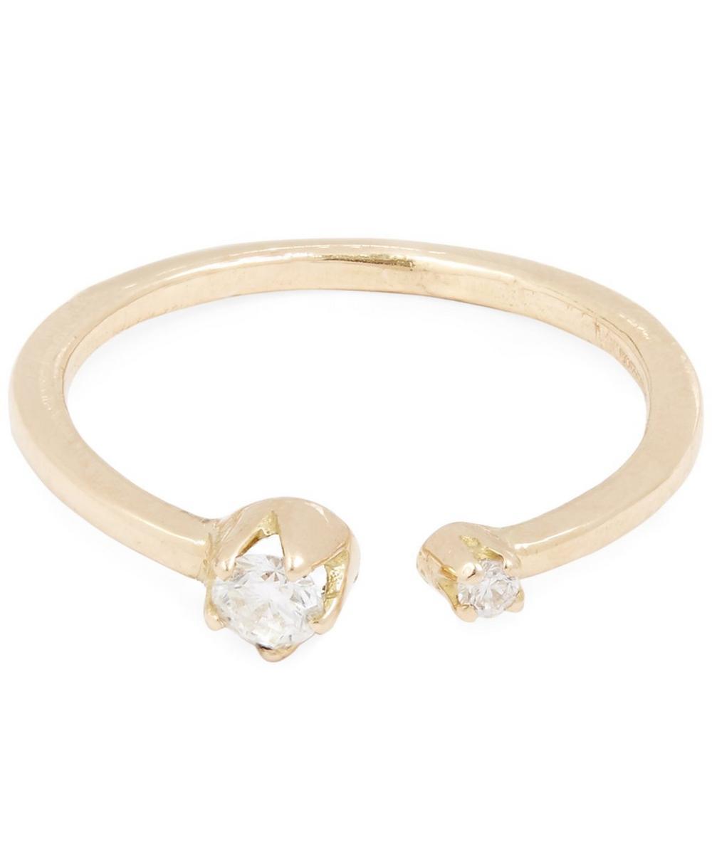 ANDREA FOHRMAN GOLD DOUBLE DIAMOND RING