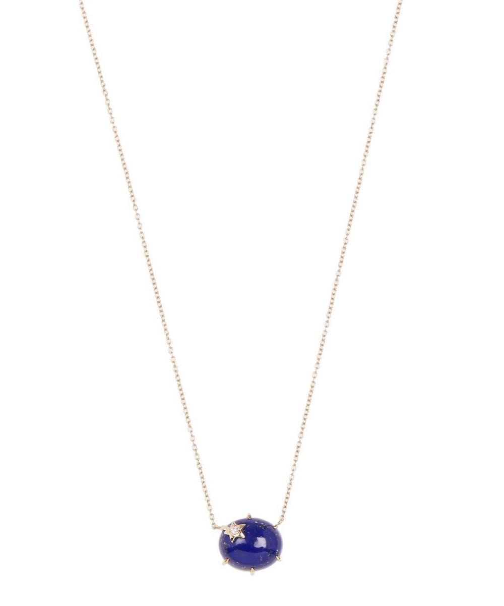 Gold Mini Galaxy Star Labradorite and Hematite Necklace