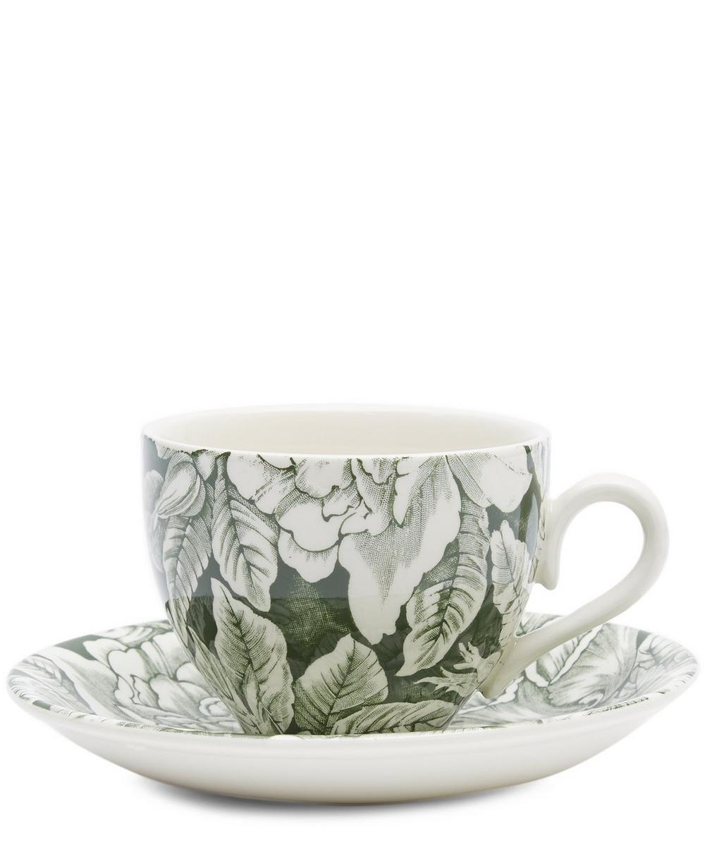 Burleigh Hibiscus Teacup and Saucer