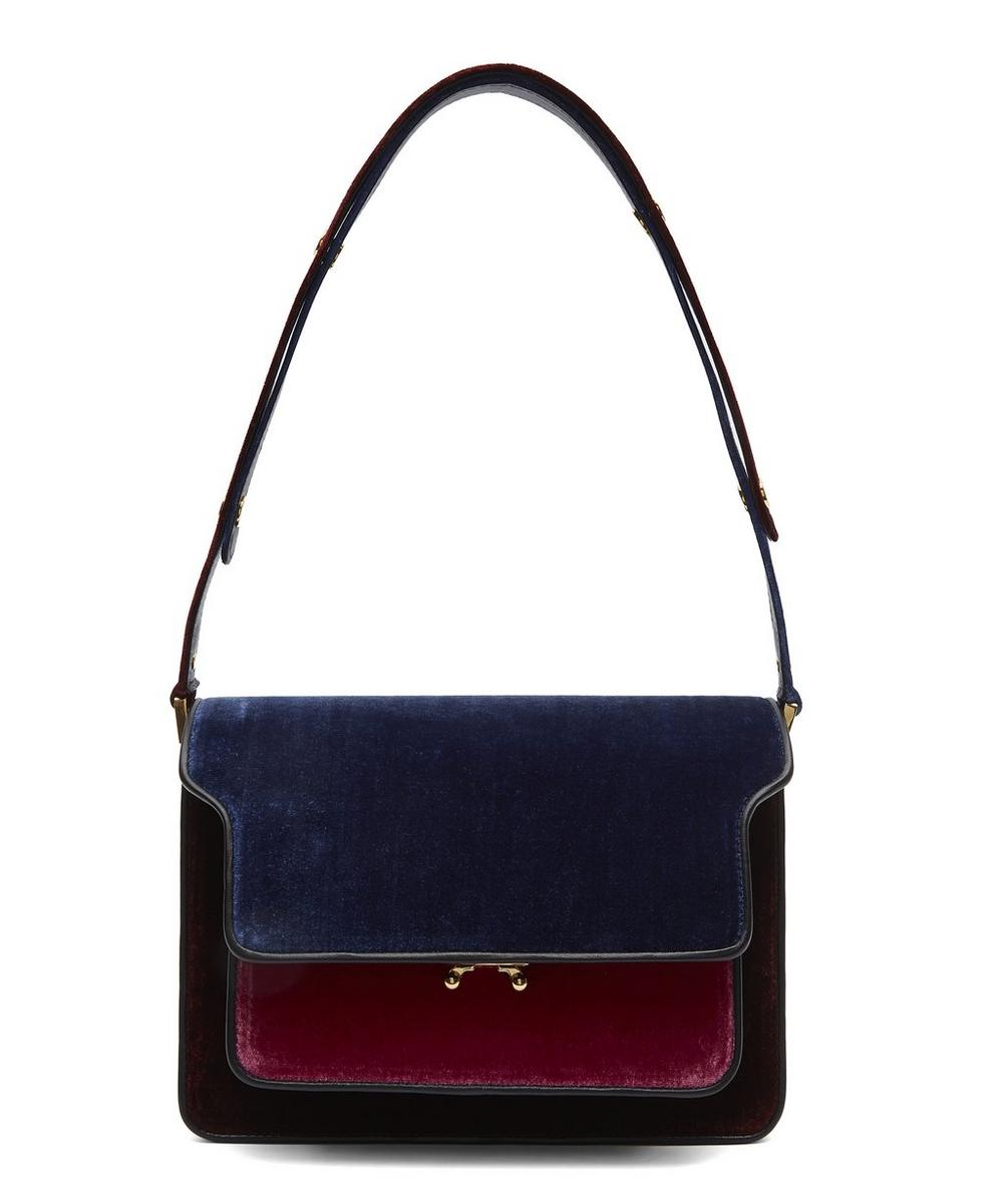 Medium Velvet Trunk Bag