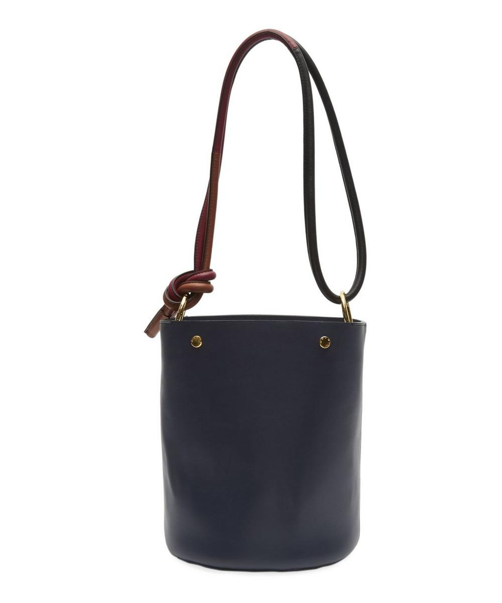 Leather Knot Strap Bucket Bag