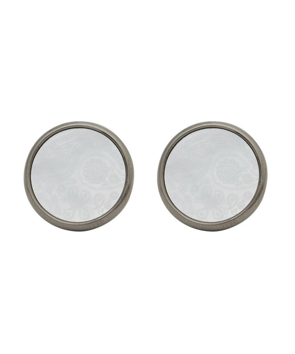 Paisley Engraved Round Cufflinks