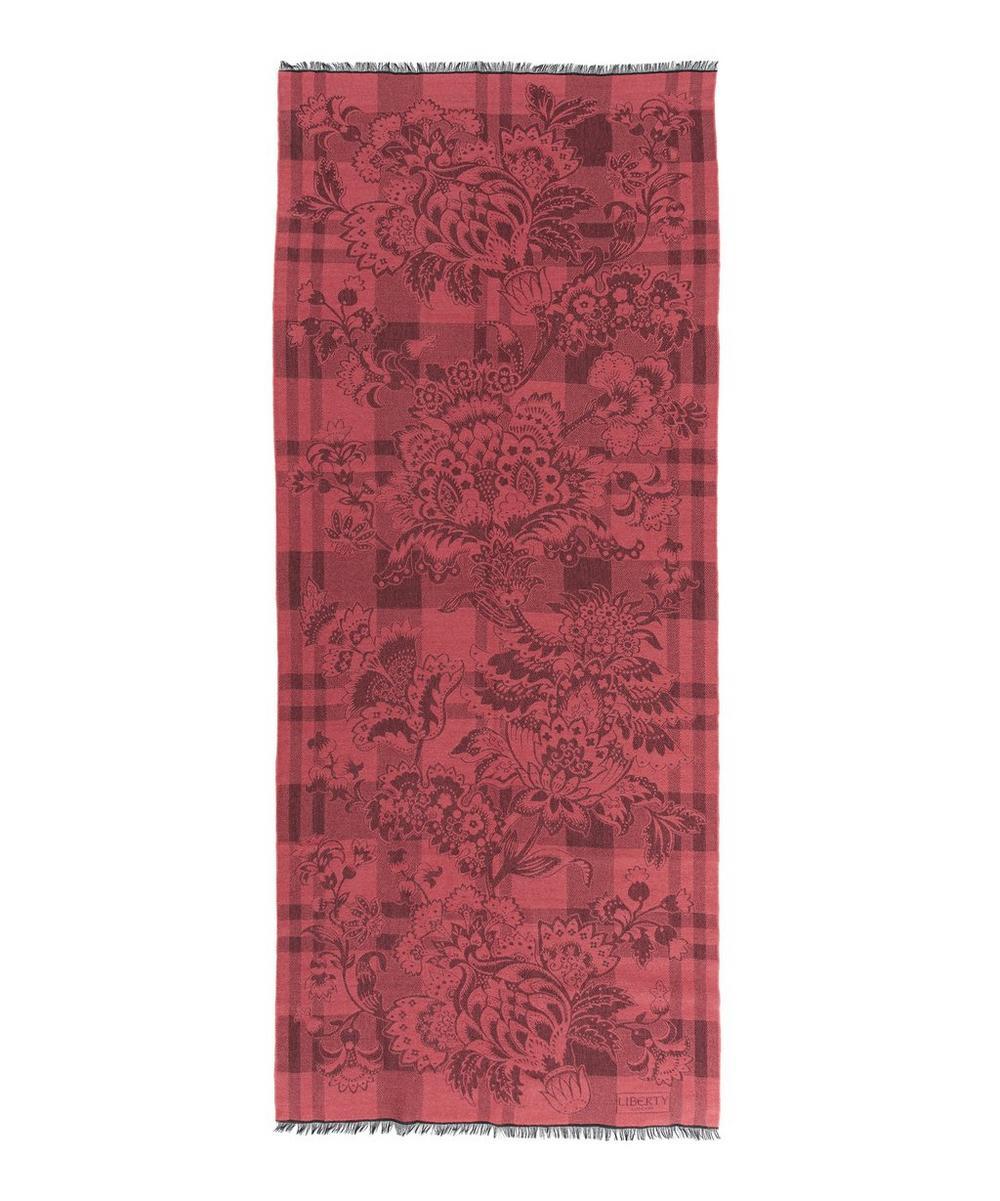 Madelaine Check Jacquard 70 x 180 Shawl