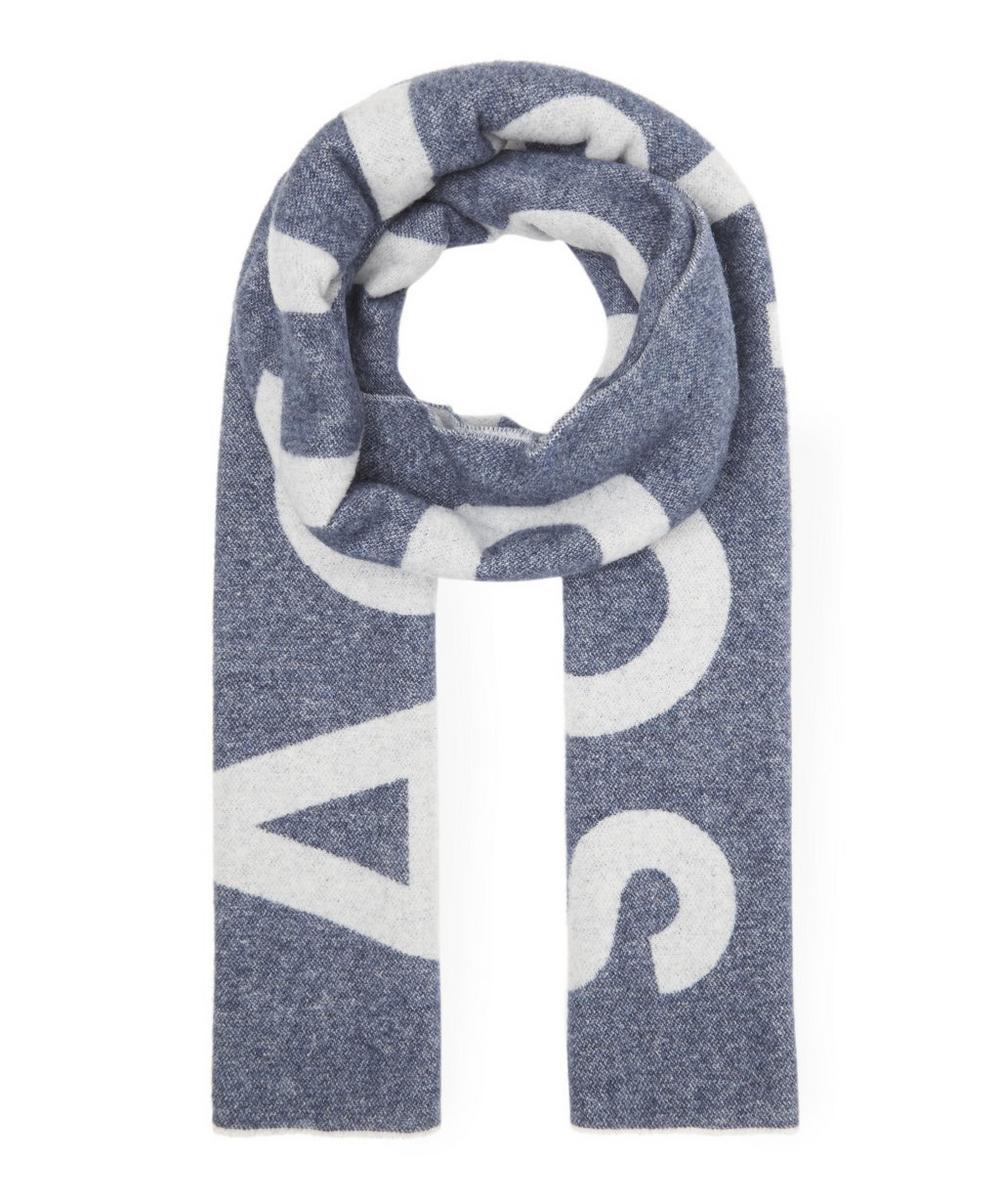 Toronto Intarsia Logo Wool-Blend Scarf