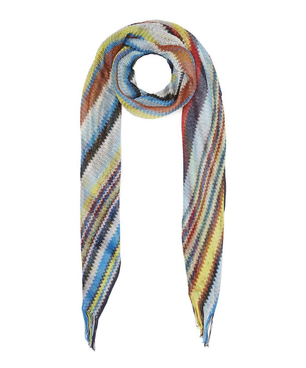 Rainbow Lurex Stripe Scarf