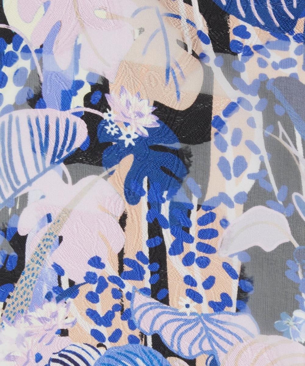Large Flower Fil Coupé Silk
