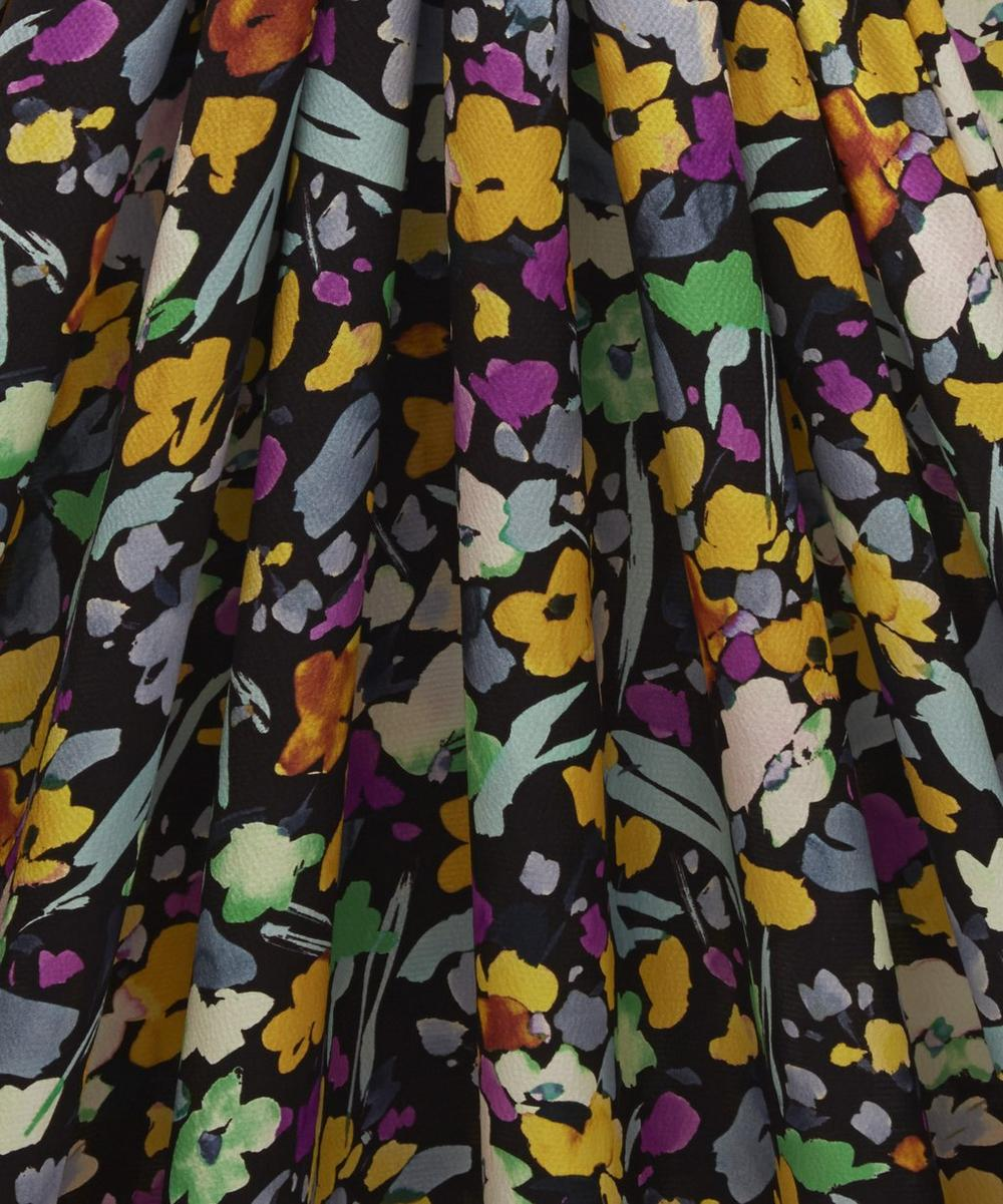 Small Floral Hammered Silk Satin