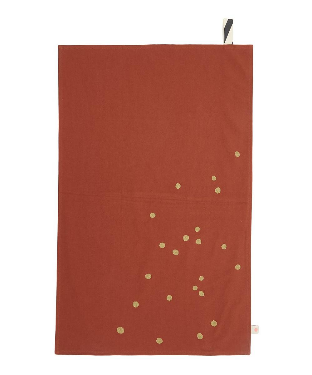 Terracotta Pois Or Tea Towel