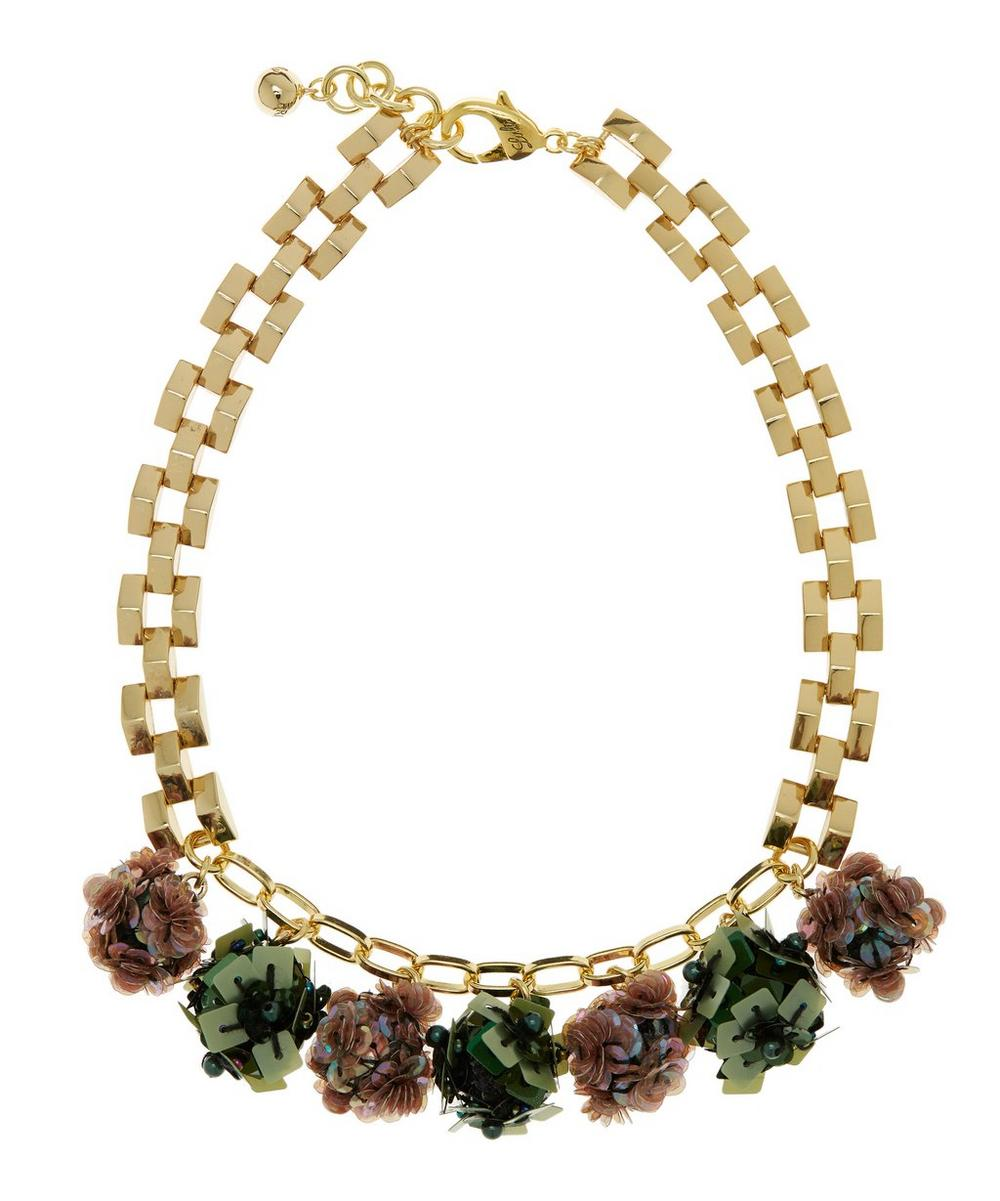 Gold-Plated Rumba Sequinned Necklace