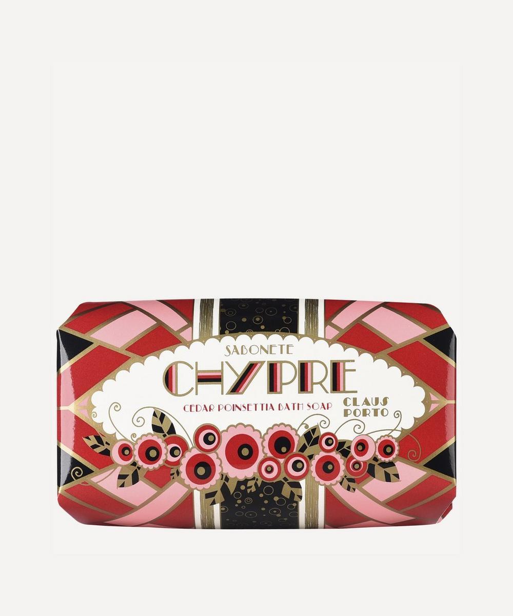 Chypre Cedar Poinsettia Soap 150g