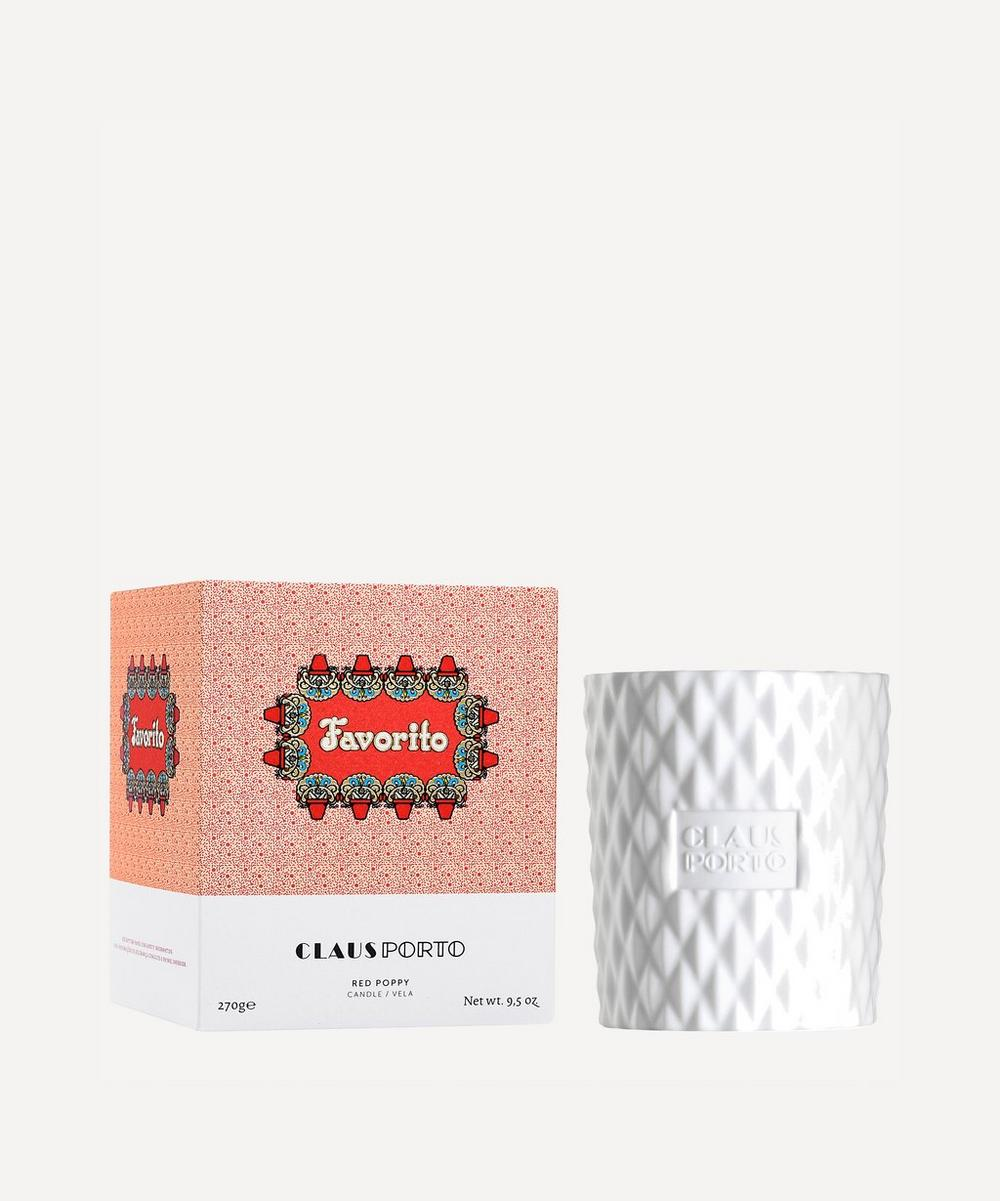 Favorito Red Poppy Scented Candle 270g