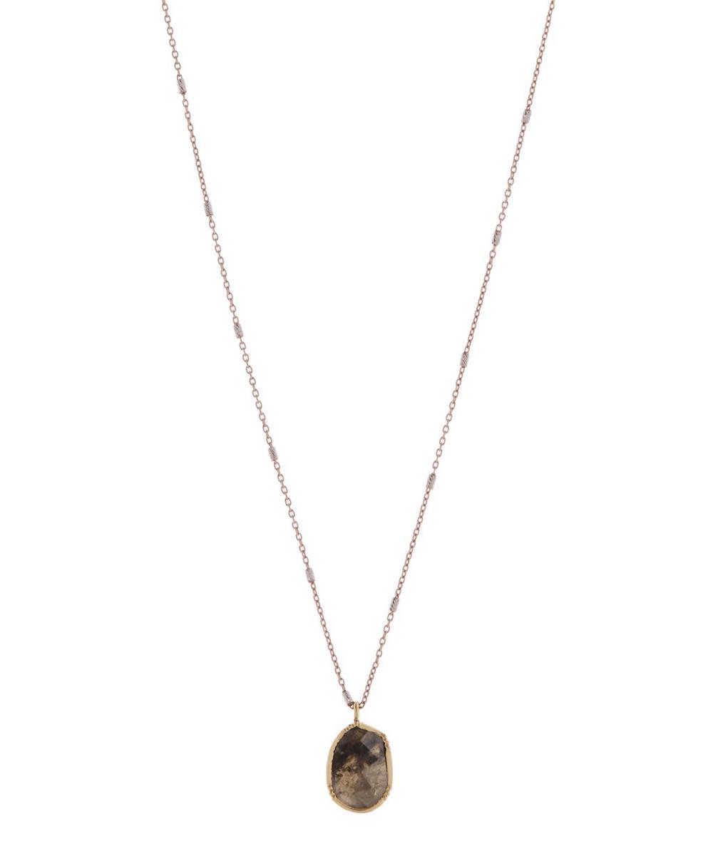 Dewdrop Diamond Slice Orbit Necklace