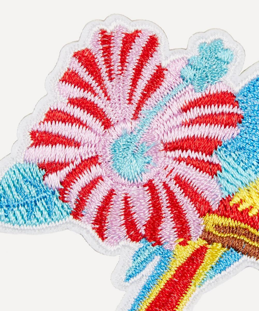 Embroidered Parrot Sticker Patch