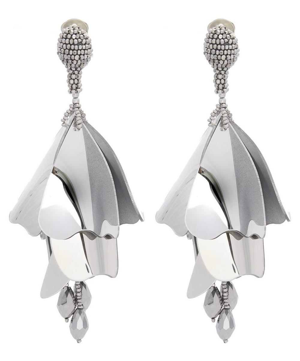 Impatiens Floral Tassel Clip-On Earrings