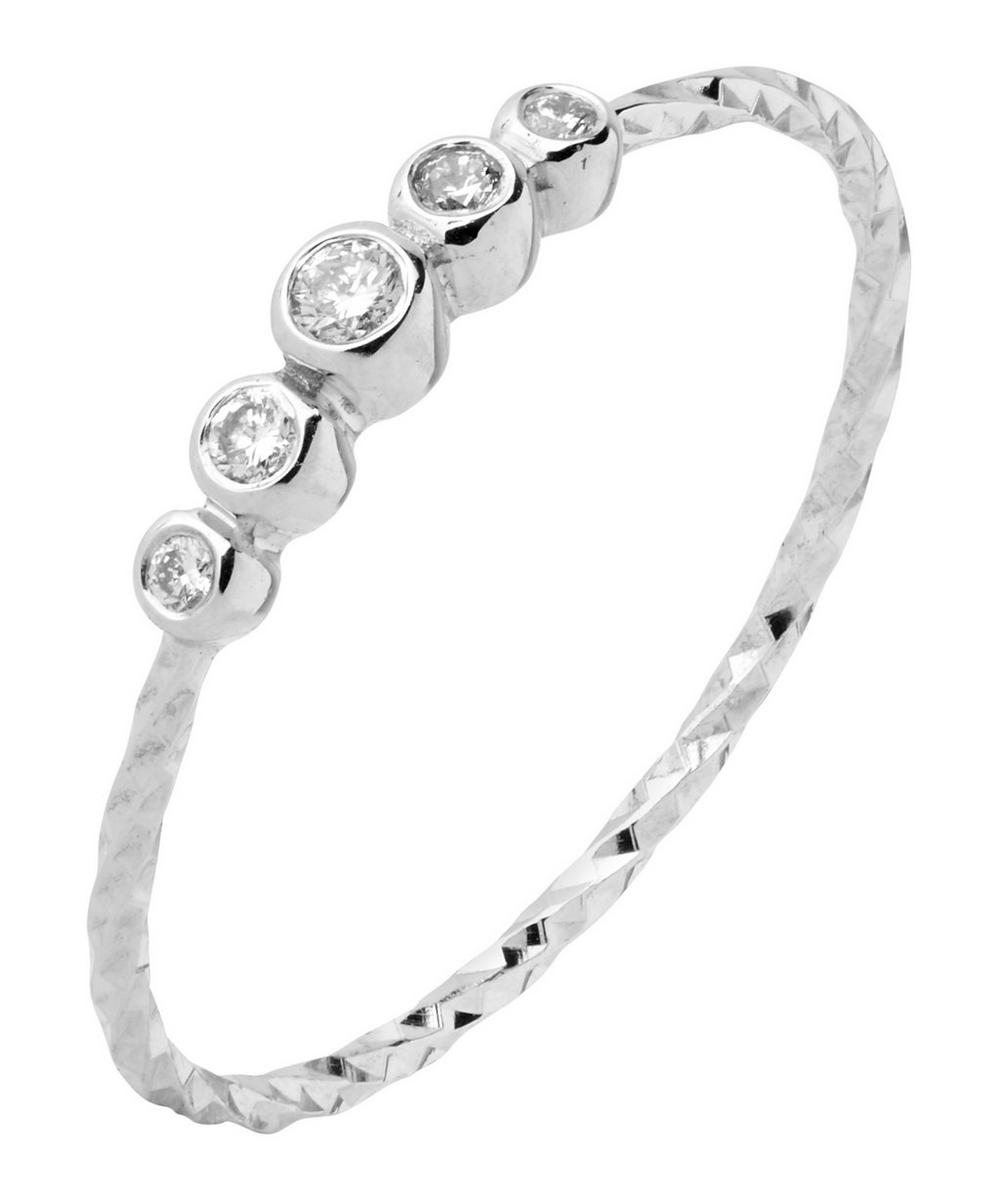 White Gold Diamond Cut Ally Ring