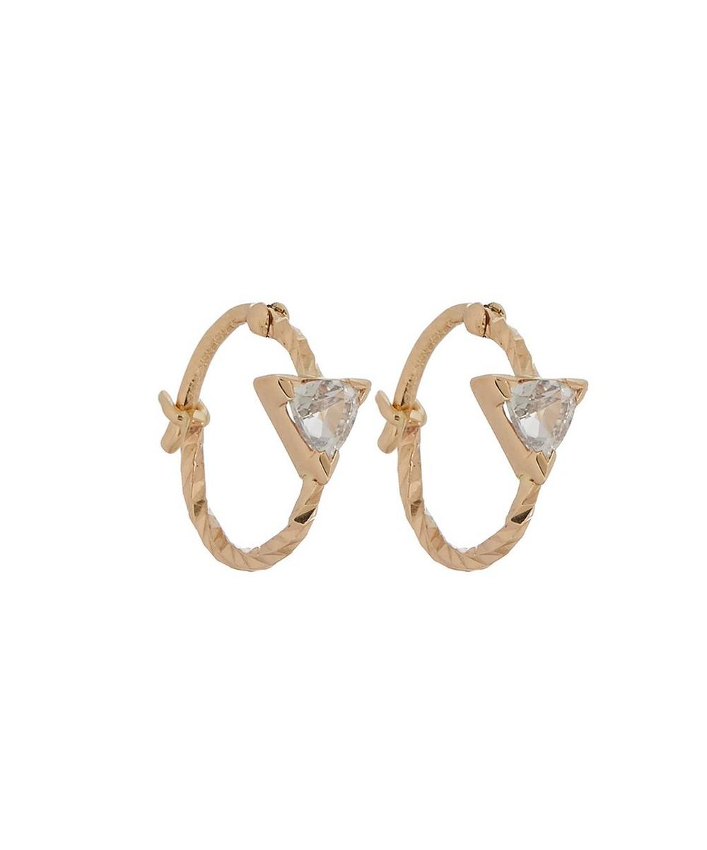 Gold Diamond Cut Viper Single Hoop Earring