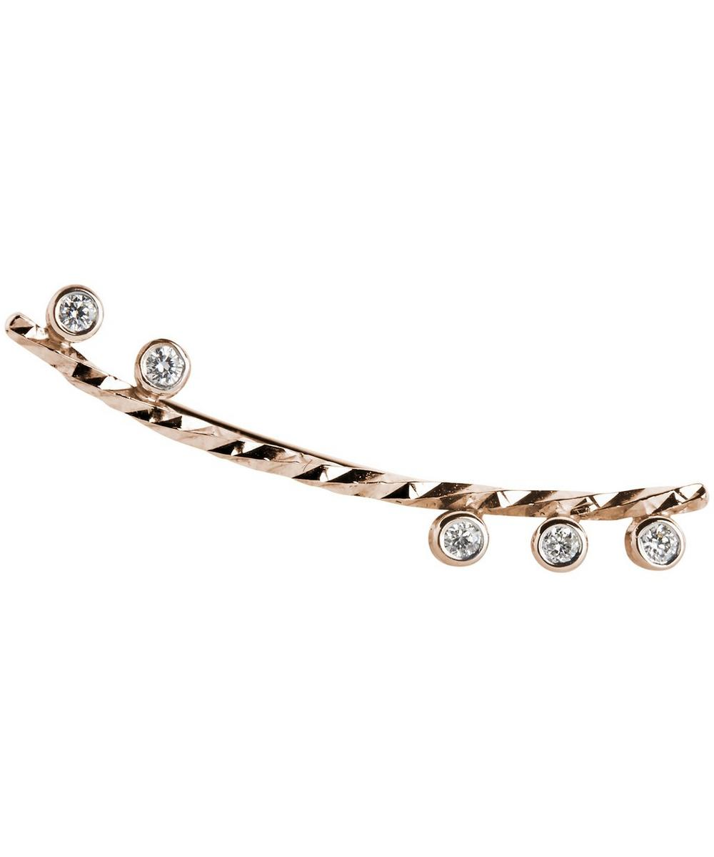 Rose Gold Diamond Cut Colette Right Earring