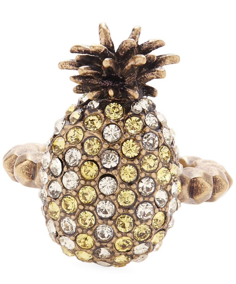 Small Crystal Pineapple Ring