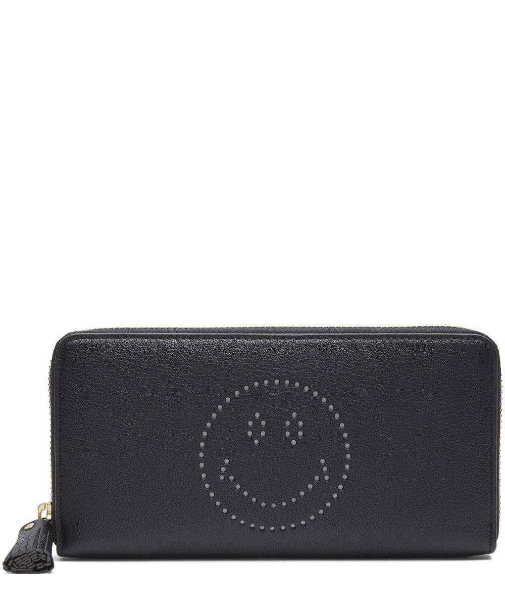 Large Smiley Zip-Around Wallet