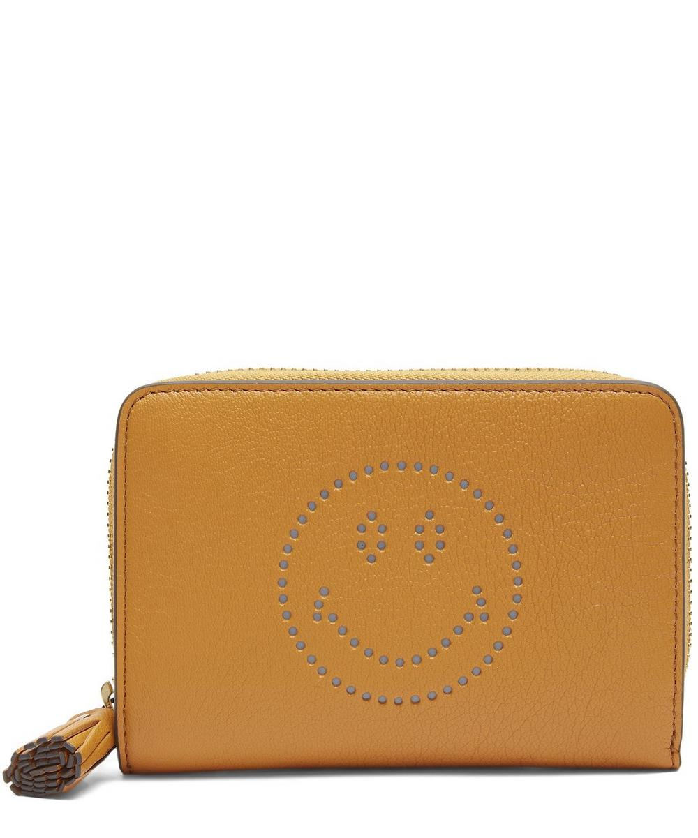 Small Smiley Zip-Around Wallet