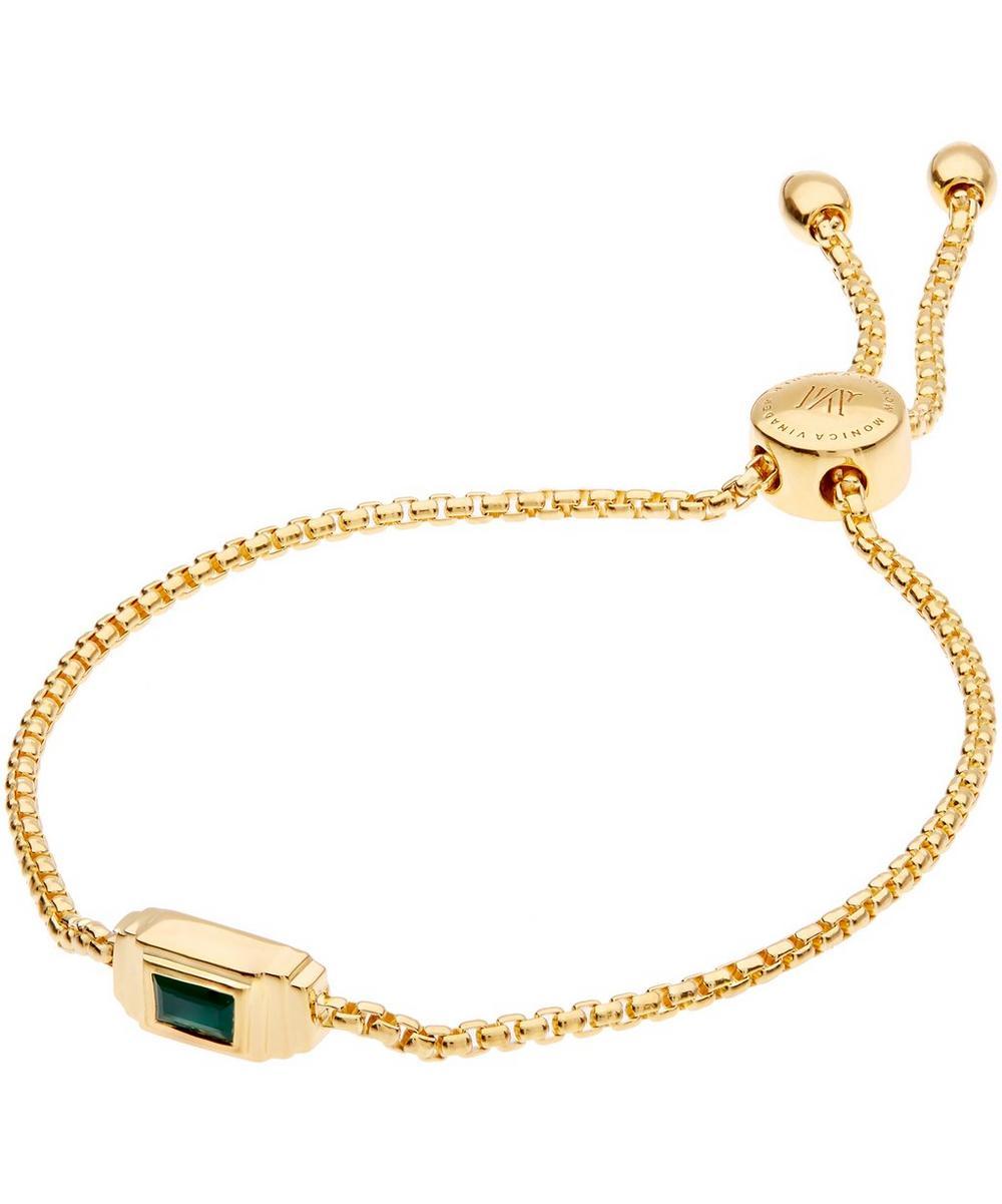 Gold-Plated Green Onyx Baja Deco Bracelet