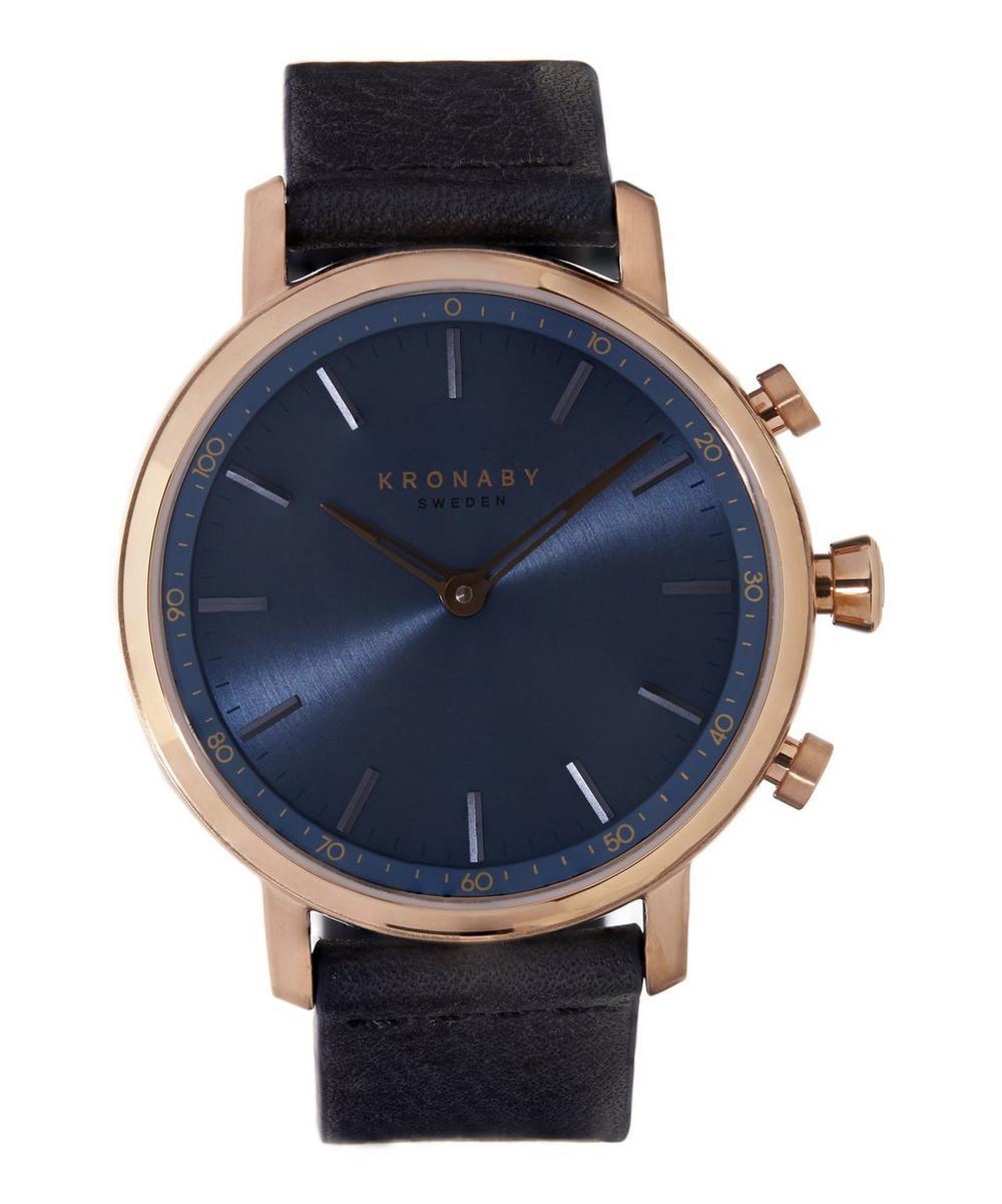 Carat Leather Strap Smart Watch