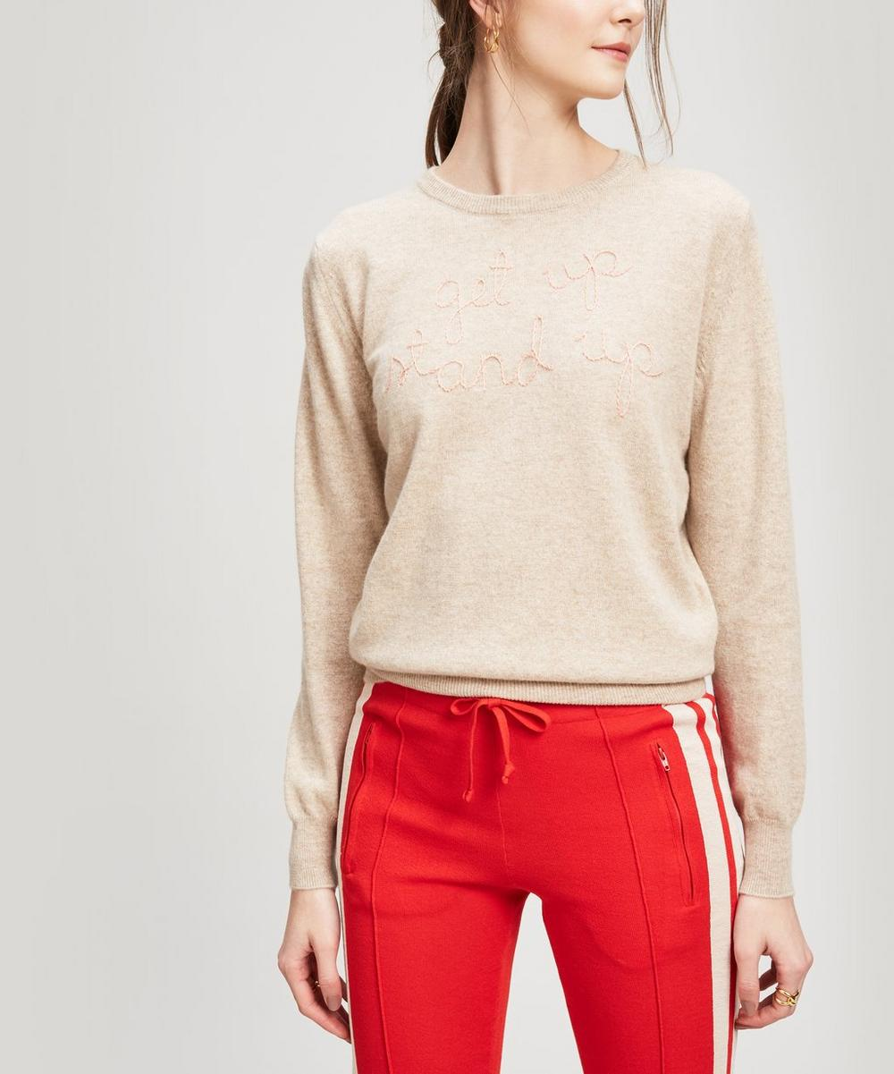 LINGUA FRANCA GET UP STAND UP CASHMERE SWEATER