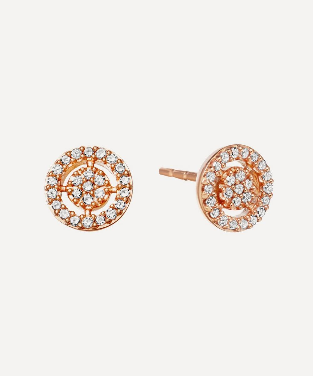 Rose Gold Mini Icon Aura Stud Earrings