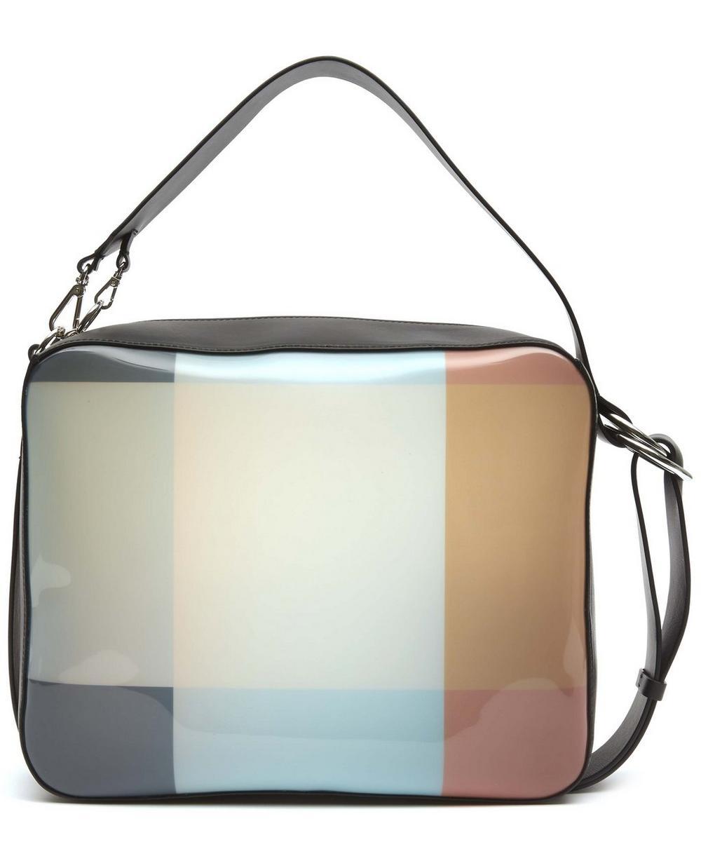 MARNI CLAES BLOCK PRINT PVC SHOULDER BAG