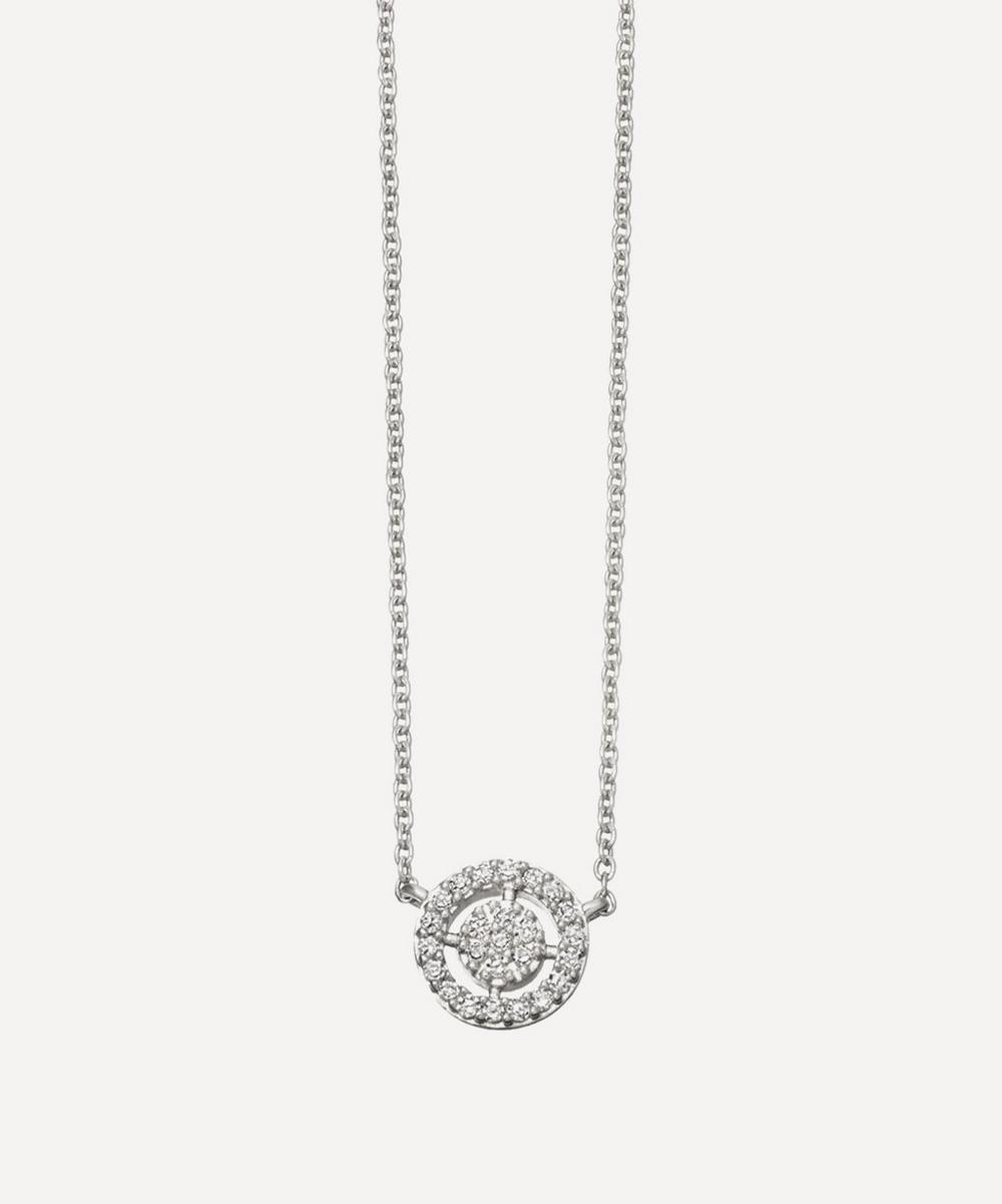 White Gold Mini Icon Aura Pendant Necklace