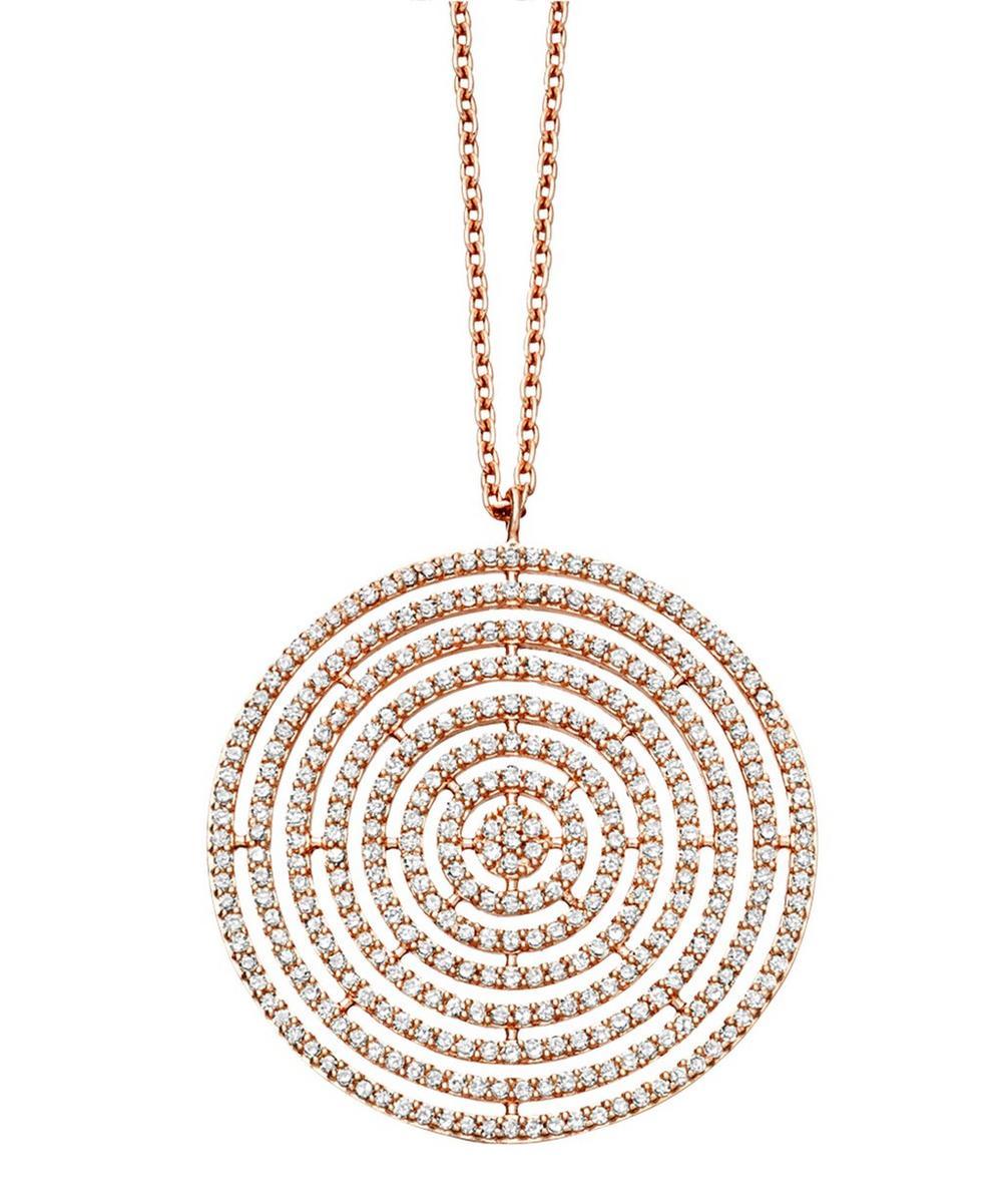 Rose Gold Large Icon Aura Pendant Necklace