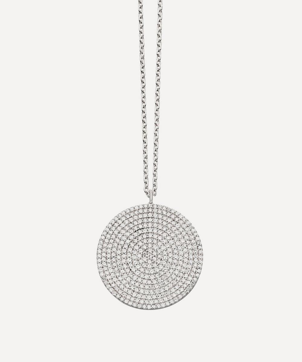 White Gold Large Icon Diamond Pendant Necklace