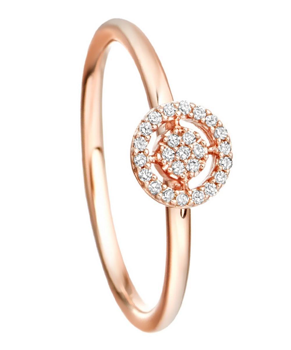 Rose Gold Mini Icon Aura Diamond Ring