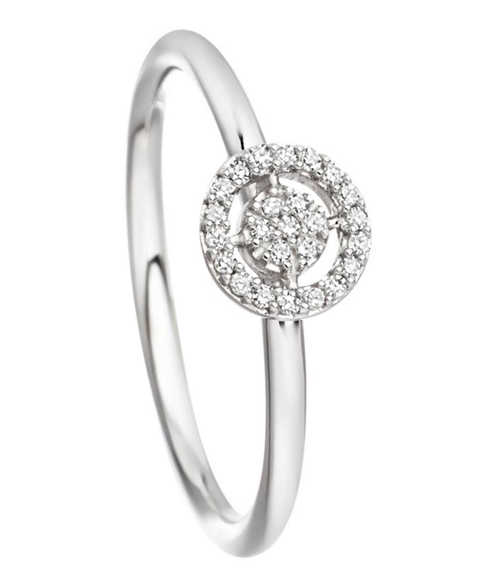 White Gold Mini Icon Aura Diamond Ring
