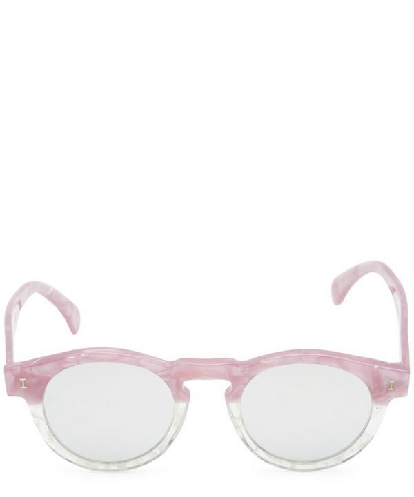Leonard Round Marble Acetate Sunglasses