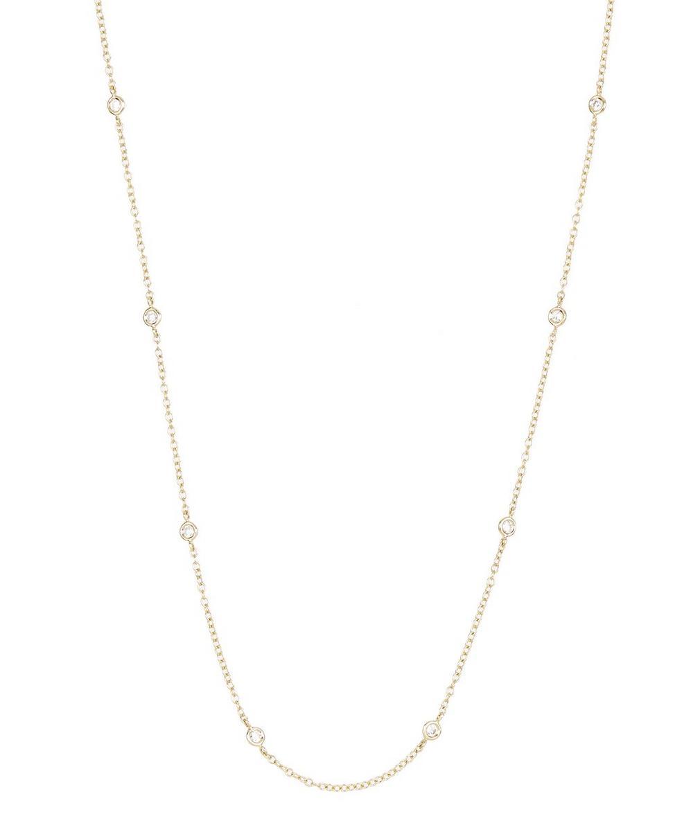 KOJIS GOLD OPTICAL DIAMOND NECKLACE