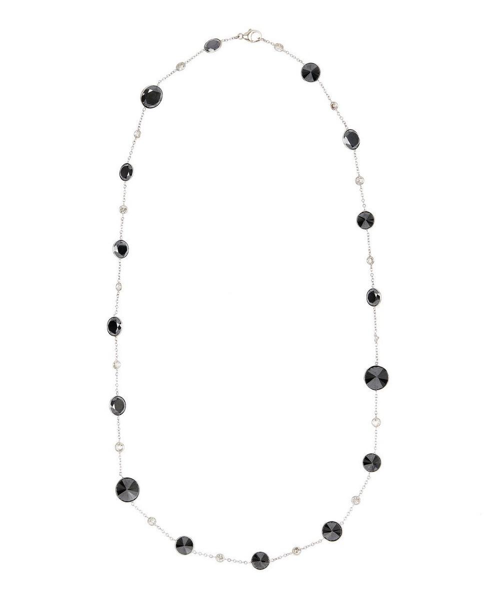 KOJIS WHITE GOLD OPTICAL BLACK AND WHITE DIAMOND NECKLACE