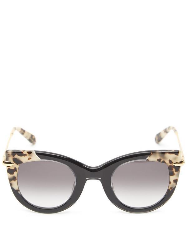 Laveau Gold-Plated Cat-Eye Sunglasses