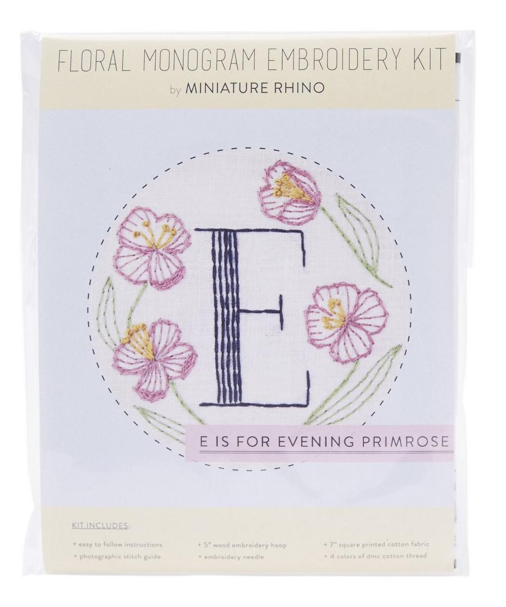 Letter E Embroidery Kit