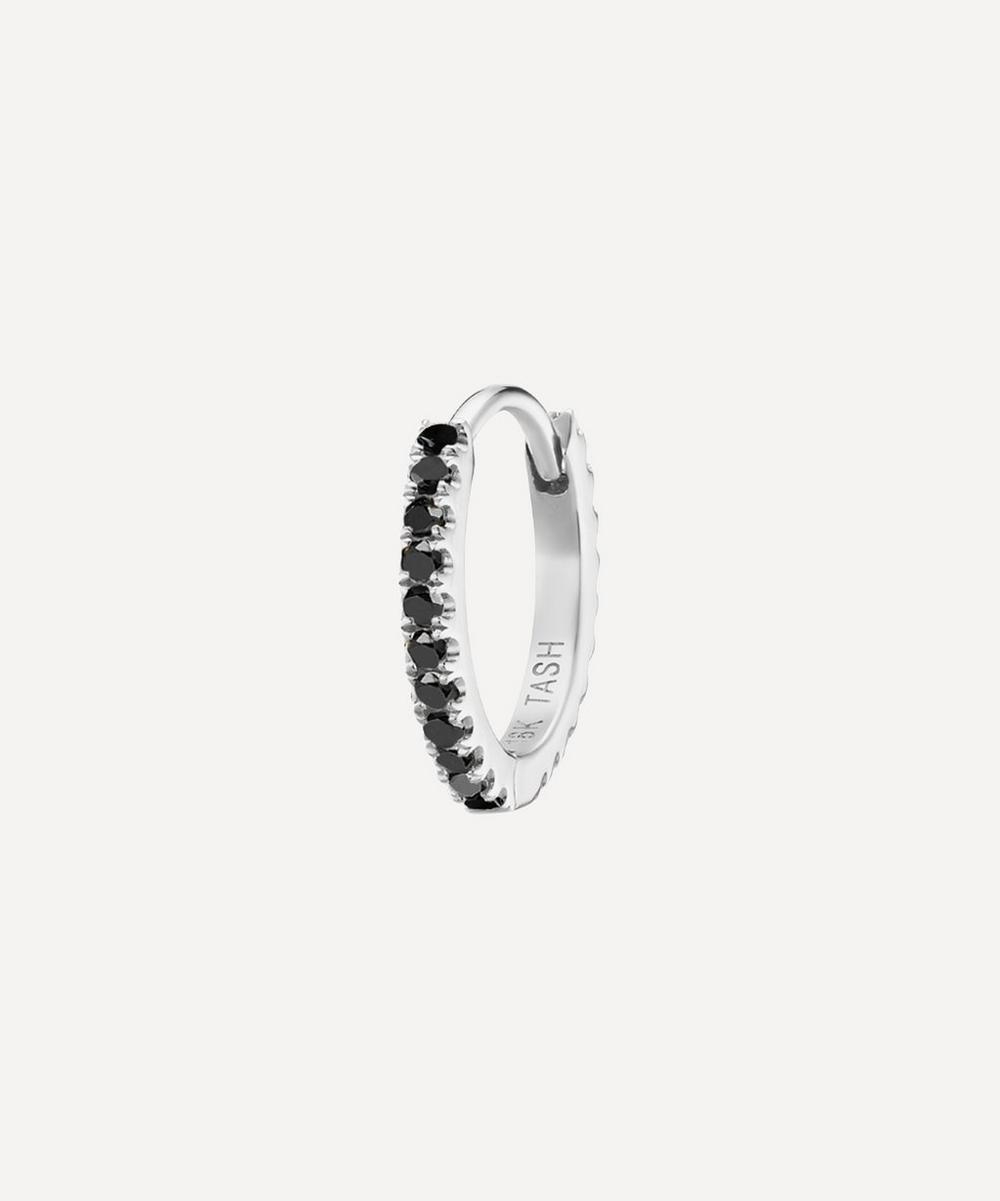 5/16' Black Diamond Eternity Hoop Earring