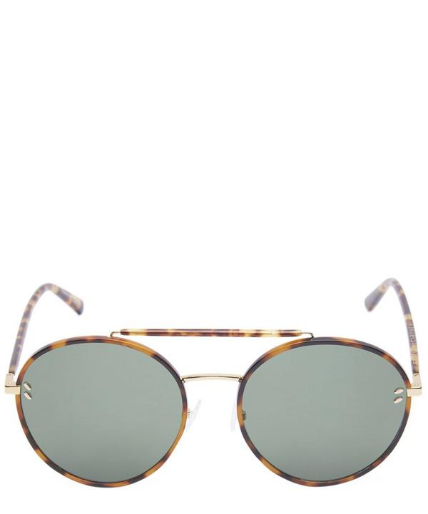 Round Havana Aviator Sunglasses