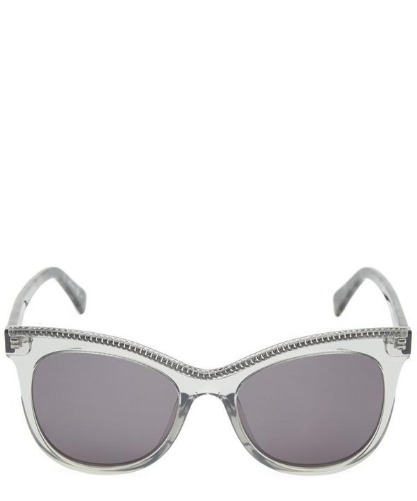 Cat-Eye Chain-Trimmed Sunglasses
