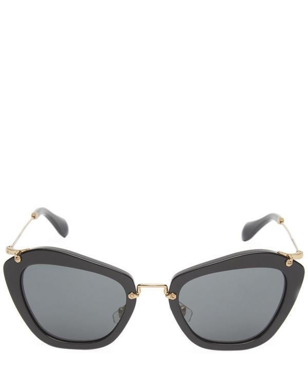 Noir Retro-Inspired Sunglasses