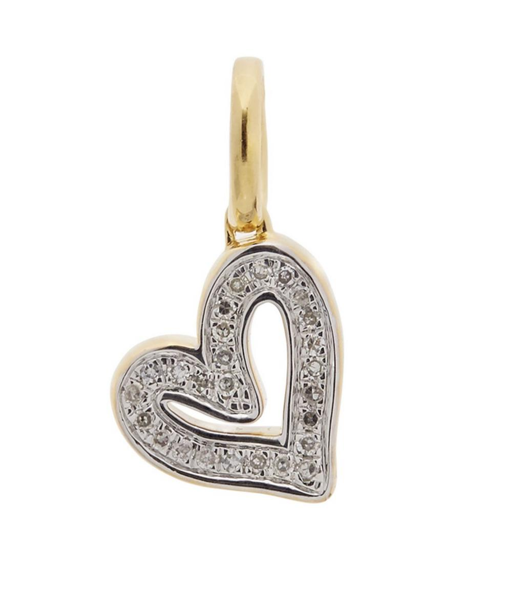 Gold-Plated Alphabet Heart Diamond Pendant