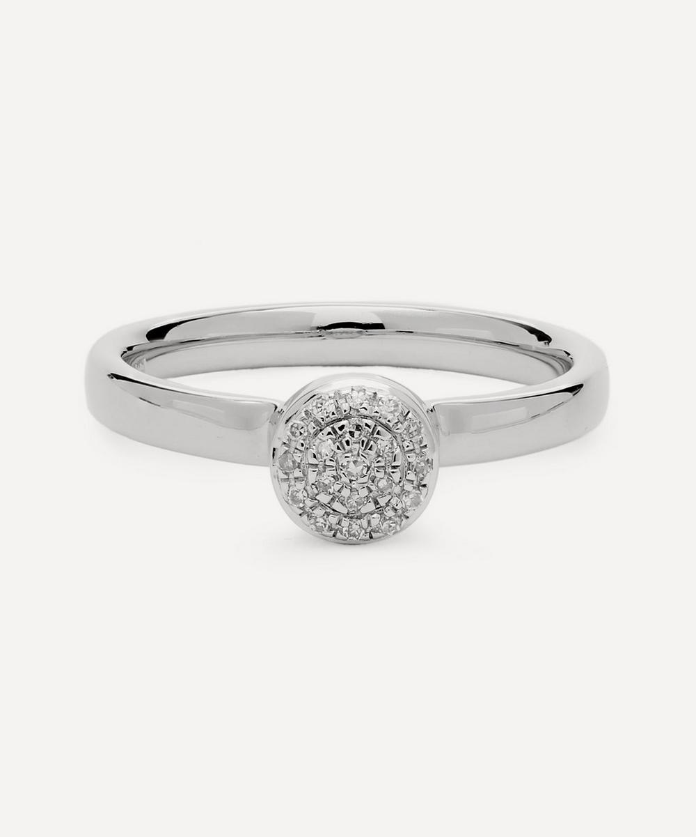 Silver Mini Fiji Diamond Button Ring