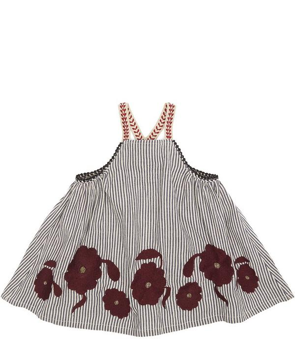 Ostrich Embroidered Baby Dress 6 Months-3 Years